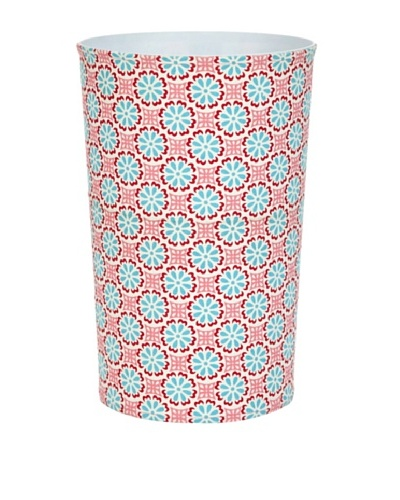 Malabar Bay Lulu Canvas Wastebasket, Pink
