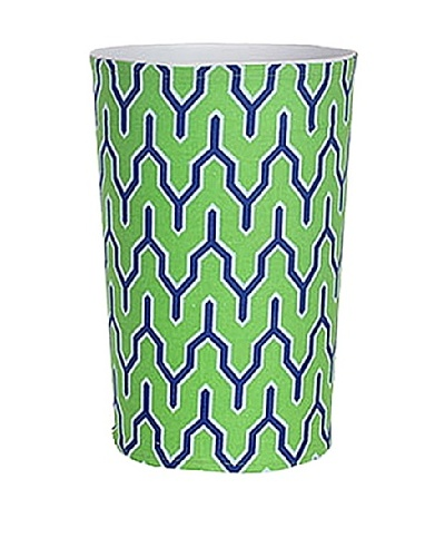 Malabar Bay Parker Canvas Wastebasket, Green