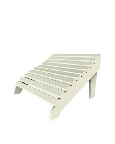Malibu Contour Footstool in White