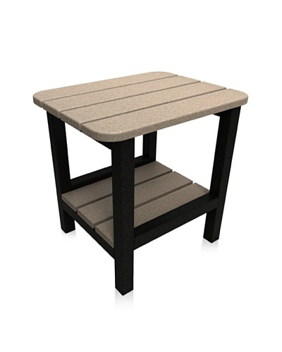 Malibu 15″ X 19″ End Table in Sand and Black