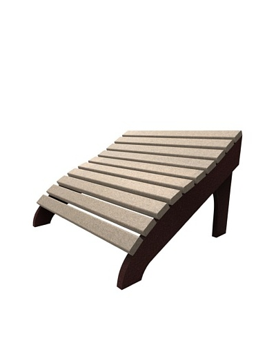 Malibu Contour Footstool in Sand and Cherry