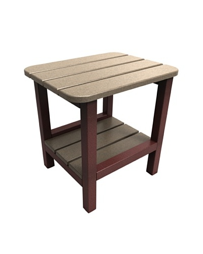 Malibu 15 X 19 End Table in Weathered Wood and Cherry