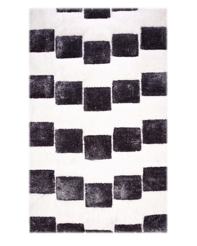 Manhattan Design District Wool Blend Luxury Shag [Black/White]