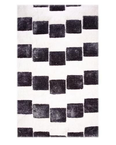 Manhattan Design District Wool Blend Luxury Shag [Black/White]