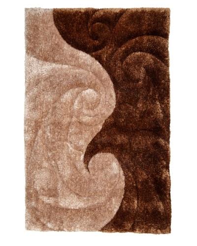Manhattan Design District Wool Blend Luxury Shag [Tan/Brown]