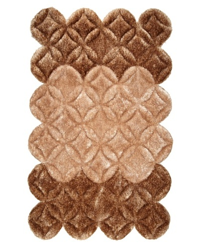 Manhattan Design District Wool Blend Luxury Shag [Tan Multi]