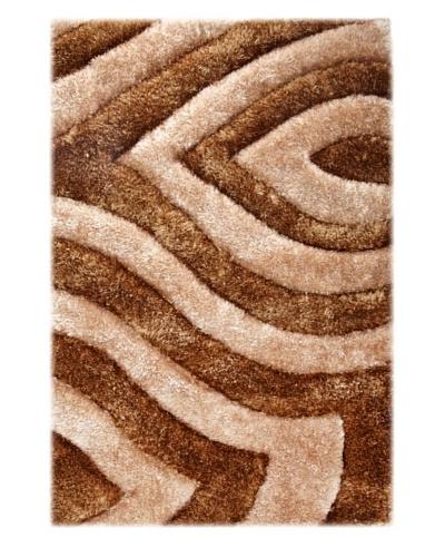Manhattan Design District Wool Blend Luxury Shag [Brown/Tan]