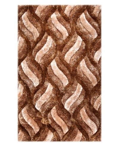 Manhattan Design District Wool Blend Luxury Shag [Brown Multi]