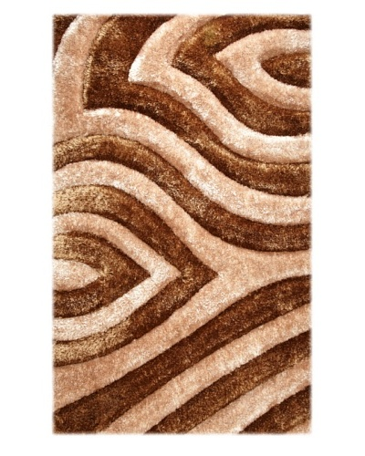 Manhattan Design District Wool Blend Luxury Shag [Brown/Tan]