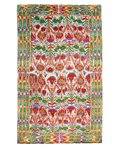 Silk Hand-Knotted Ikat Rug