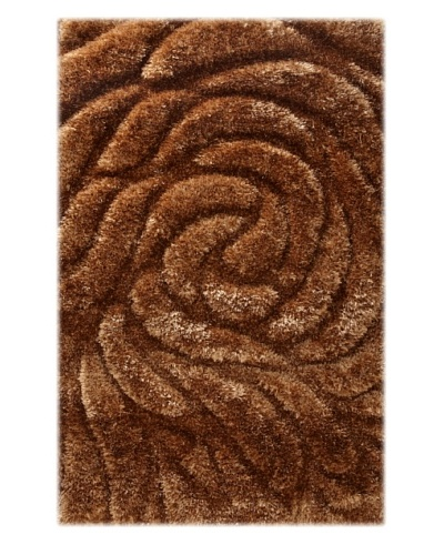 Manhattan Design District Wool Blend Luxury Shag [Brown]