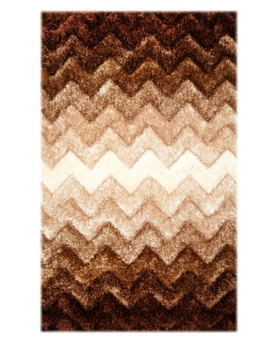 Manhattan Design District Wool Blend Luxury Shag [Brown Multi]