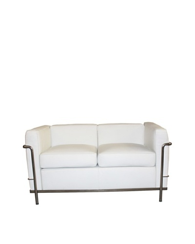 Manhattan Living Cube LC2 Petit Loveseat, White