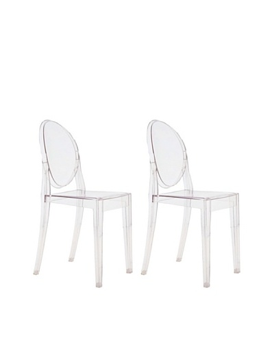 Manhattan Living Set of 2 Soho Chairs, Clear