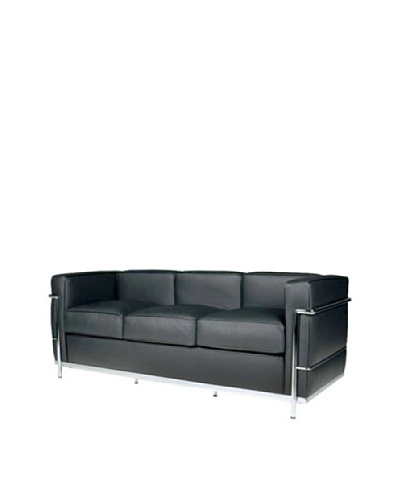 Manhattan Living Cube LC2 Petit Sofa, Black