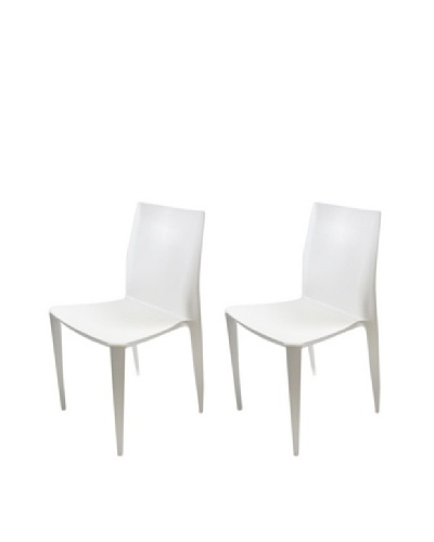 Manhattan Living Set of 2 Greenwich Chairs, White