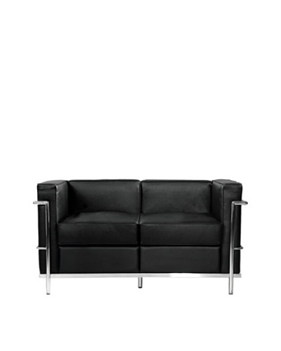 Manhattan Living Cube LC2 Petit Loveseat, Black