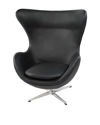 Manhattan Living Leather Inner Chair, Black