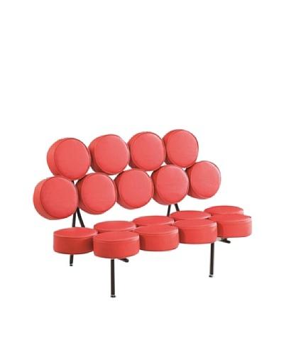 Manhattan Living Circle Sofa, Red