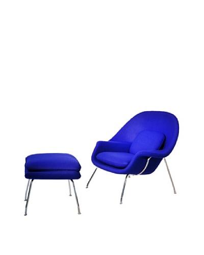Manhattan Living Womb Chair & Ottoman Set, Purple