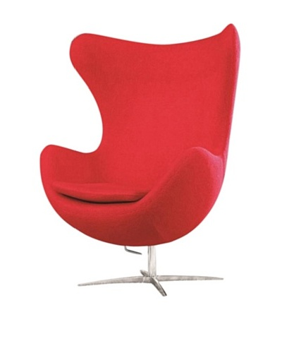 Manhattan Living Fabric Inner Chair, Red