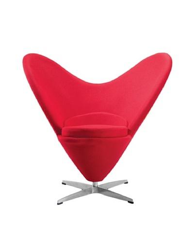 Manhattan Living Heart Chair, Red