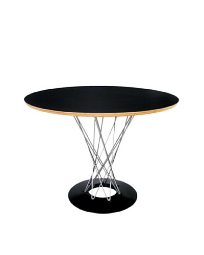 Manhattan Living 42 Wire Dining Table, Black