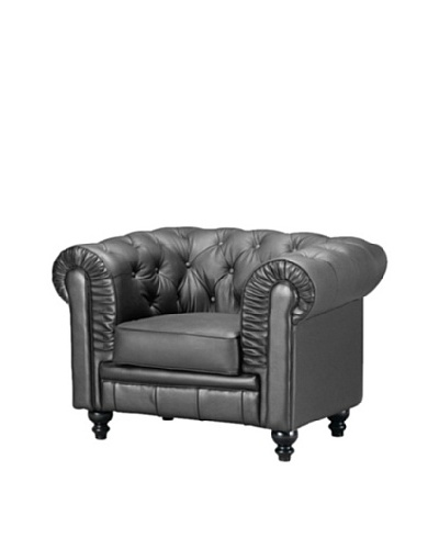 Manhattan Living Chestfield Loveseat, Black