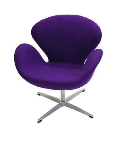 Manhattan Living Swan Fabric Chair, Purple