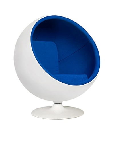 Manhattan Living Ball Chair, Blue