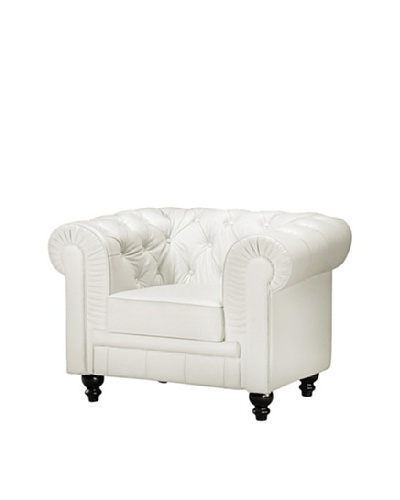 Manhattan Living Chestfield Chair, White