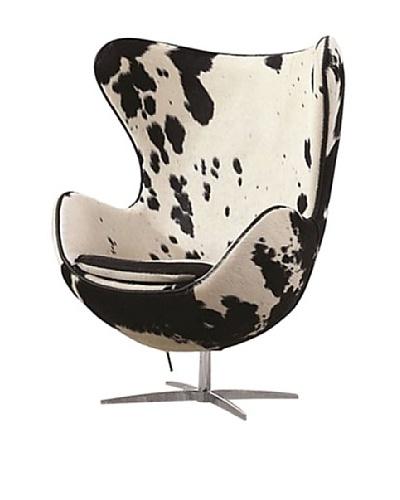 Manhattan Living Pony Hide Inner Chair, Black/White
