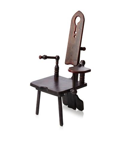 MarinDÔM Hand Stained Sculptural Chair, Brown/Blue