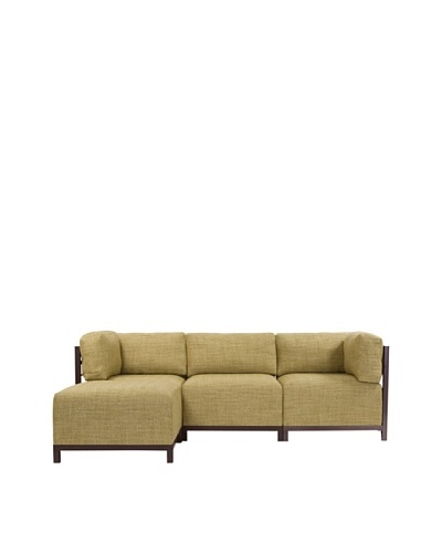 Marley Forrest Coco Peridot Axis 4-Piece Sectional, Mahogany Frame