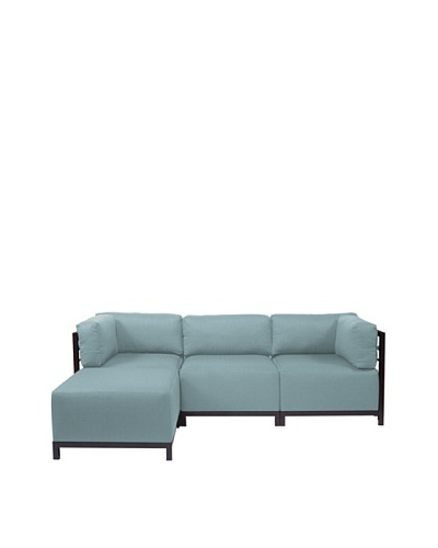 Marley Forrest Sterling Breeze Axis 4-Piece Sectional, Mahogany Frame