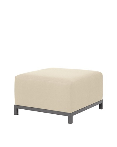 Marley Forrest Sterling Sand Axis Ottoman Slipcover