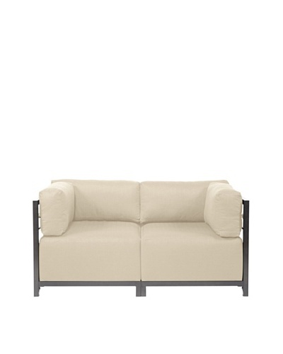 Marley Forrest Sterling Sand Axis 2-Piece Sectional, Titanium Frame