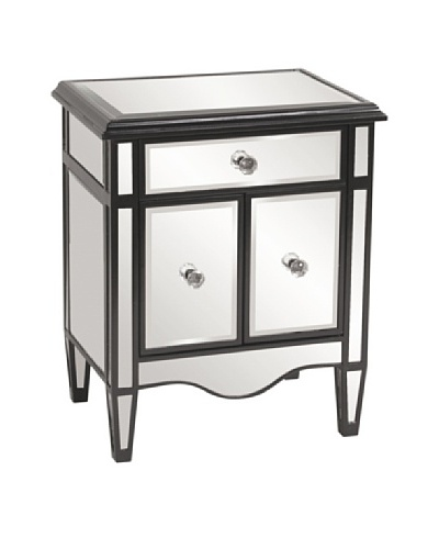 Marley Forrest Mirrored Cabinet with Black Lacquer Trim