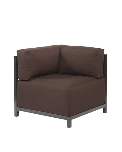 Marley Forrest Sterling Chocolate Axis Corner Chair, Titanium Frame