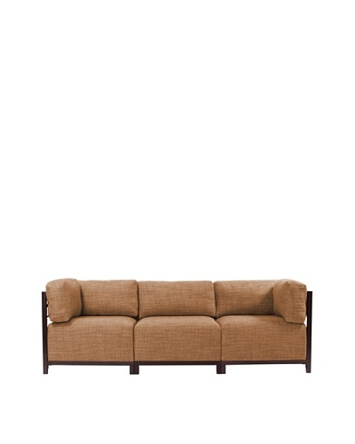 Marley Forrest Coco Topaz Axis 3-Piece Sectional, Mahogany Frame