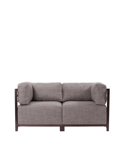 Marley Forrest Coco Slate Axis 2-Piece Sectional, Mahogany Frame
