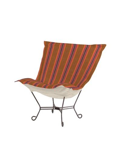 Marley Forrest Baja Punch Scroll Puff Chair, Titanium Frame