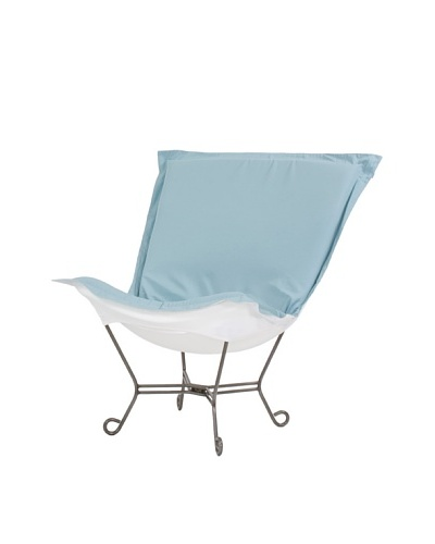 Marley Forrest Starboard Breeze Scroll Puff Chair, Titanium Frame