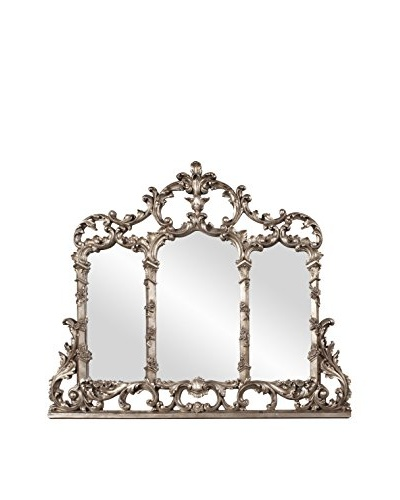 Marley Forrest Spencer Mirror, Antique Silver/Copper Leaf