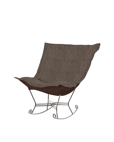Marley Forrest Coco Slate Scroll Puff Rocker