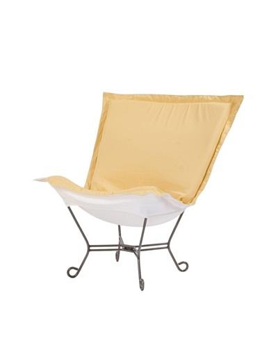 Marley Forrest Starboard Sunflower Scroll Puff Chair, Titanium Frame
