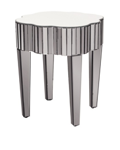 Marley Forrest Pewter Mirrored Side Table, Pewter Mirrored
