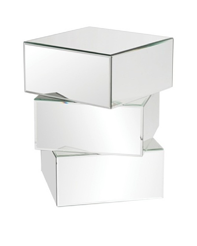 Marley Forrest Stacked Contemporary Mirrored End Table