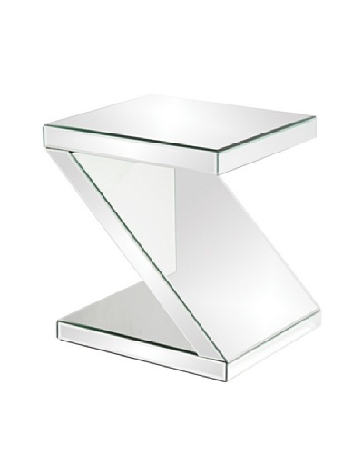 Marley Forrest Z-Shaped Mirrored End Table