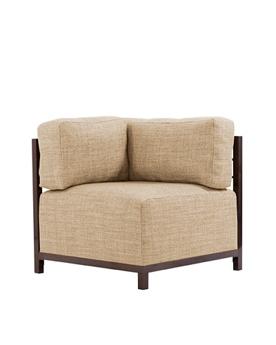 Marley Forrest Coco Stone Axis Corner Chair, Mahogany Frame